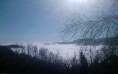 valle del Chiamo sotto la nebbia.Veneto, Italy