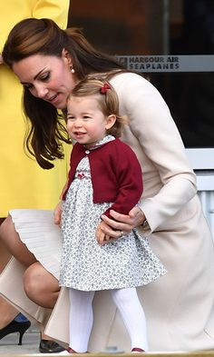 The little princess looked picture perfect as she prepared to say goodbye to Canada.<br><p>Photo: © PA