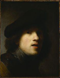 Rembrandt van Rijn, Self-Portrait (Study in a Mirror), circa 1629