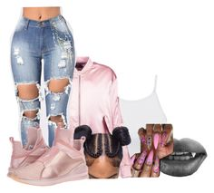 """Untitled #2287"" by kayla77johnson ❤ liked on Polyvore featuring LE3NO, Boohoo and Puma"