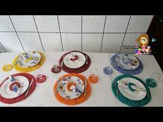 Passo a passo Jogo de Sousplat Estrela  Pink Artes Croche by Rosana Recchia - YouTube