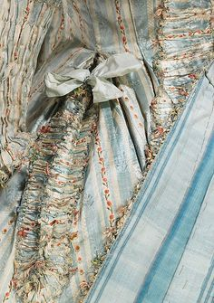 Robe à la Française (image 3 - detail) | French | 1780 | silk | Brooklyn Museum Costume Collection at The Metropolitan Museum of Art | Accession Number: 2009.300.855