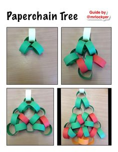 Paperchain Christmas Tree, see www.classroomtm.co.uk for idea source