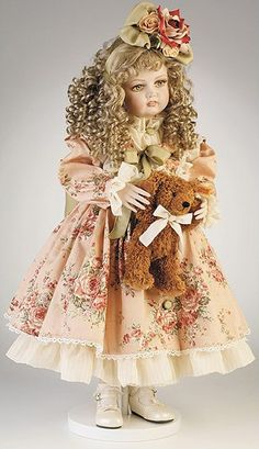 not as creepy. Ashton Drake, Marie Osmond, Old Dolls, Antique Dolls, Dollhouse Dolls, Miniature Dolls, Nursery Stories, Goldilocks And The Three Bears, China Dolls