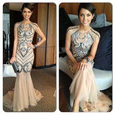 @paigekduffy in #danielastephanie gown at the #dallymawards ... wearing jewels @Emmanuele Di Felice Tsakiris #Padgram