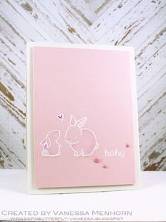 Lawn Fawn - Hello Baby _ beautiful CAS baby card by Vanessa via Flickr - Photo…