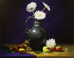 """20 x 16 Oil on Canvas """"Pippin withe Flowers"""" JL Morris"""