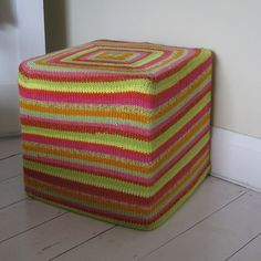 Citrus Squares  by Claire Crompton    Published in   The Knitter's Bible: Knitted Throws and Cushions