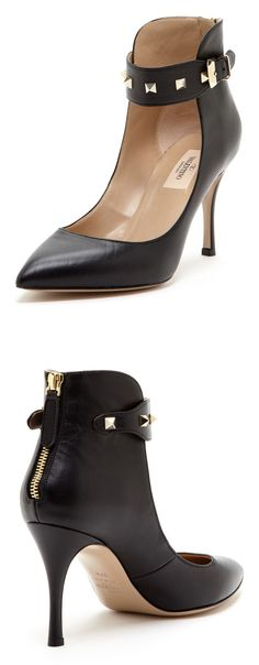 Valentino Studded Ankle Strap Pumps