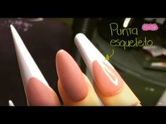 Cómo hacer una punta ESQUELETO (Tipos de Puntas para uñas) - YouTube Nail Bed, Balerina, Manicure At Home, Mani Pedi, String Art, Toe Nails, Make It Yourself, Crafts, Beauty