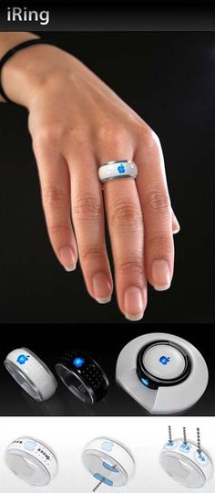 Apple's iRing:Victor Soto, an artist, came up with the idea for iRings. Its a conceptual idea for a control playback for your Apple media devices. As a simple ring on a finger, it uses wireless Bluetooth for connectivity with iPod and iPhone.