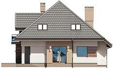 Projekt domu Opałek III N 134,43 m2 - koszt budowy 224 tys. zł - EXTRADOM Home Fashion, New Homes, Outdoor Structures, House Design, House Styles, Home Decor, Houses, Opal, Decoration Home