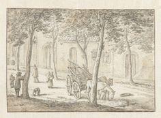 Pieterskerkhof te Utrecht, Herman Saftleven, 1619 - 1685