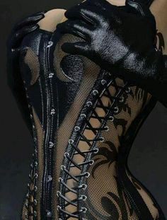 see through lace corset