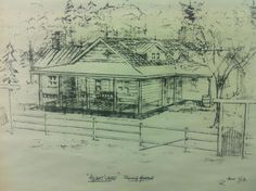 Sketch of the Heartland ranch from the CBC Heartland series
