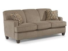 Shop for Flexsteel Fabric Sofa, 5641-31, and other Living Room Sofas at Hickory Furniture Mart in Hickory, NC. Ample cushioning in a trim profile. With square arms and a curved back lined with welt cording, Dempsey boasts a clean, architectural shape that pairs with any homes decor.