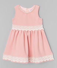 Another great find on #zulily! Pink & Creme Cassie Dress - Girls #zulilyfinds