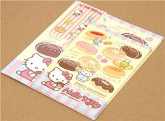 kawaii Hello Kitty Letter Paper set from Japan Doughnut