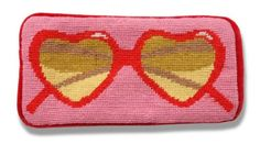 These needlepoint glassescases from Jonathan Adler never fail to make me laugh. The heart pair is my favorite. So Lolita. So granny chic.