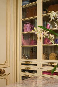 purse storage & display in closet