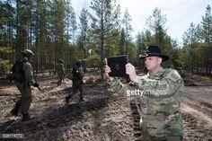 01-23 US Army Cavalry Major Neil Penttila films the action of... #kankaanpaa: 01-23 US Army Cavalry Major Neil Penttila films… #kankaanpaa