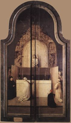 Bosch (open) Triptych of the Adoration of the Magi (closed)  c. 1510  Oil on wood, 138 x 72 cm  Museo del Prado, Madrid