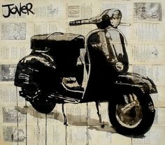 "Artist Loui Jover; Drawing, ""vespa"" #art"