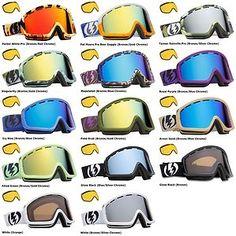 NEW Electric EGB2 mirror & extra lens mens ski snowboard goggles 2013 Msrp$130