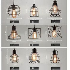 Mixed vintage edison metal wire cage hanging l& shade pendant light chandelier & Birdcage Metal Frame Pendant Lamp Lightshade Minimalist For Room ...