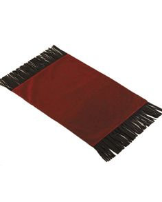 Set of Four Red Cheyenne Faux Tooled Leather Placematswith fringe trim | Housewares rustic western Native American design Navajo Indian Aztec decor drysdales.com outdoors the american west colorado wyoming montana lodge cabin country home #countryhome #countryliving #rustichome #logcabindecor home for the holidays entertaining dinner friends family dining dinner