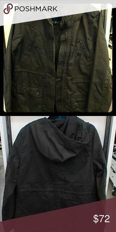 AEO Military Jacket Olive Pocket Zip American Eagle Outfitters Jackets & Coats Utility Jackets