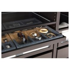 KOMPLEMENT Pull-out tray, black-brown, 39 Keep your accessories next to your clothes! The pull-out tray is perfect as it is, or paired with KOMPLEMENT inserts to hold your smaller items that don't not need as much height in your wardrobe.