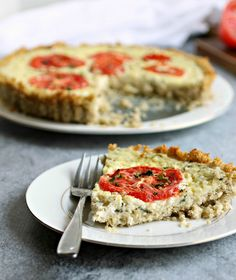 Tomato and Cottage Cheese Tart with Quinoa Crust