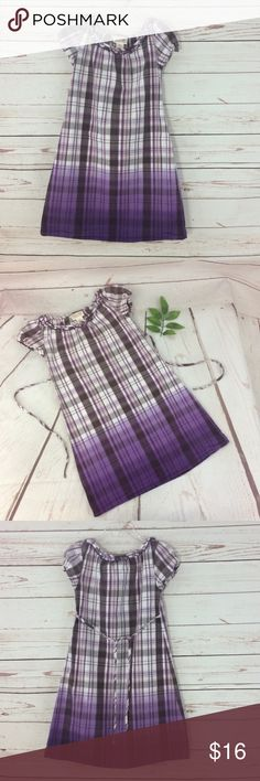 Mossimo Purple & White Plaid Dress Adorable purple & white plaid with a hint of gold stripes. Dress ties in the back. 99% cotton & 1% other fiber. Excellent condition! B6 Mossimo Supply Co. Dresses Casual