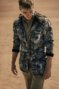 print + belted mens jacket, Belstaff Spring 2016 Menswear Collection // mens style + fashion