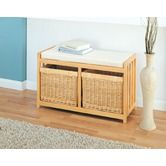 Found it at Wayfair - Mellow Wood and Wicker Storage Bench
