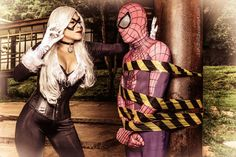 Black Cat and Spider Man Cosplay by karollhell.deviantart.com on @DeviantArt