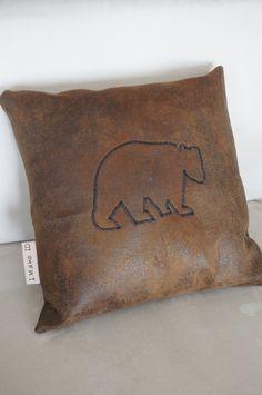 Line Art Pillow - Bear. $30.00, via Etsy.