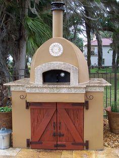 Mugnaini Italian Pizza Oven - custom design & install (concrete, CMU block, stucco, mosaic tile & stone) - Lake Nona, FL