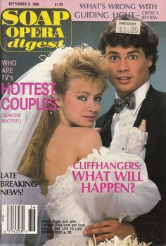 Soap Opera Digest September 9 1986 Andrea Evans John Loprieno www.grammysbargains.com Lots more great issues available. Click for details.