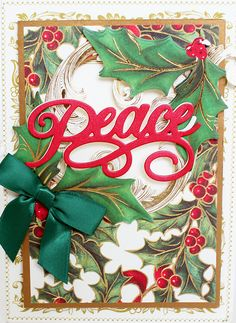 HSN October 5th, 2016 Sneak Peek 2 | Anna's Blog - Christmas Sentiments Dies and Folders (9 different word titles that include: Merry, Peace, Joy, Jingle, Believe, Merry Christmas, Wish, HoHoHo and Noel)