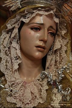 I grieve for You , O Mary most sorrowful for all the pains You suffered on earth and in Heaven, from all who should love You and yet deny You. Mother Most Holy ~ Pray for us! Blessed Mother Mary, Blessed Virgin Mary, Religious Images, Religious Art, Madonna, La Passion Du Christ, La Madone, Our Lady Of Sorrows, Religious Tattoos