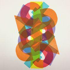 Unique artist's proof from 2008's 'Rotorelief No. 1.' #woodtype #letterpress #typography #vandercook #printmaking