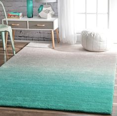 Find nuLOOM Ariel Ombre Shag Rug, x Turquoise online. Shop the latest collection of nuLOOM Ariel Ombre Shag Rug, x Turquoise from the popular stores - all in one Bedroom Turquoise, Turquoise Rug, Turquoise Kitchen, Turquoise Furniture, Turquoise Home Decor, Room Rugs, Area Rugs, Coastal Bedrooms, Coastal Rugs