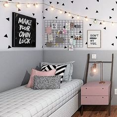51 free inspiring small teen bedroom ideas you will love 34 Wonderful Teen Bedrooms Bedroom Free ideas Inspiring love Small Teen Cute Bedroom Ideas, Cute Room Decor, Girl Bedroom Designs, Teen Room Decor, Bedroom Decor, Dream Rooms, Dream Bedroom, Tumblr Bedroom, Small Room Bedroom