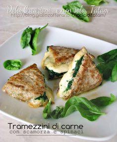 Tramezzini di carne con scamorza e spinaci