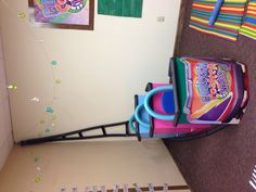 My preschool/kindergarten classroom roller coaster for VBS 2013: Colossal Coaster World.