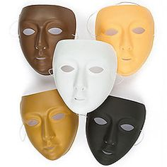 Plastic Masks To Decorate Create People Of The World Wooden Face Sticks In Varying Skin