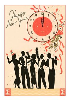 vintage happy new year happy new year cards