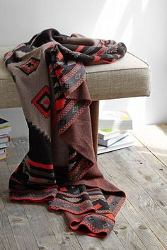 Southwest Knit Throw BlanketCurl up and get cozy in this soft-knit blank with a bright allover southwestern design.